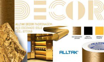Já imaginou o seu ambiente em tons de dourado? Conheça o Decor Aço Escovado Dourado