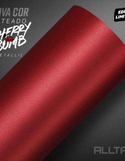 Linha Jateado Cherry Bomb Metallic | Alltak Envelopamento Automotivo