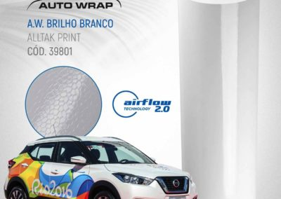 A.W Brilho Branco | Alltak Envelopamento Automotivo