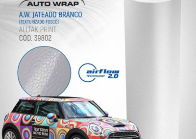 A.W. Jateado Branco | Alltak Envelopamento Automotivo