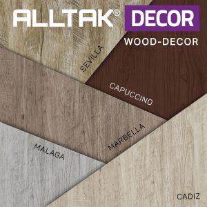 Ao fundo da imagem, há uma paleta com as padronagens da alltak.