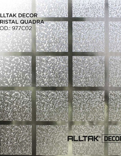 Alltak Decor Cristal Quadra | Alltak Adesivos Automotivo