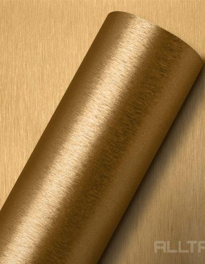 Decor Aço Escovado Dourado | Alltak Envelopamento Automotivo