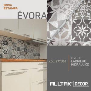 A imagem mostra a estampa nova da alltak, que é no estilo europeu em tons cinzas.